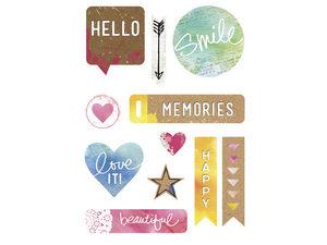 Wholesale: Momenta 11 piece chipboard stickers