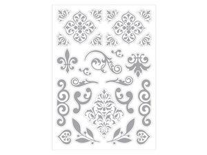 Wholesale: 26 piece silver decorative stickers