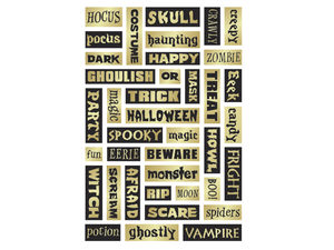 Wholesale: Momenta Foam Stickers with 39 Halloween Phrases