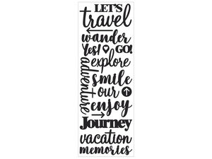 Wholesale: Momenta Puffy Black Stickers with 17 Vacation Phrases