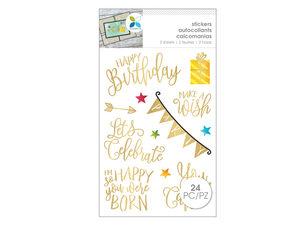 Wholesale: Momenta 24 Piece Gold Birthday Stickers