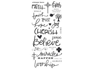 Wholesale: 27 Piece Stickers with Faith-Based Phrases