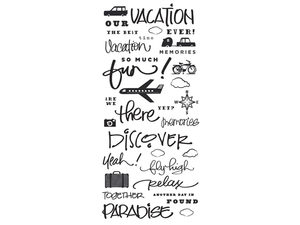 Wholesale: 34 Piece Stickers with Vacation Phrases