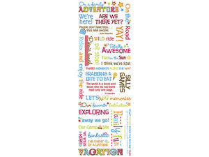 Wholesale: Momenta Stickers with 29 Vacation Phrases