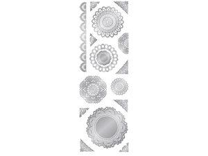 Wholesale: Momenta 15 Piece Stickers in Silver Doily Designs