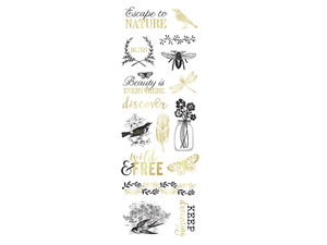 Wholesale: Art-c 16 piece black and gold nature stickers