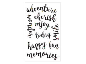 Wholesale: Momenta 9 Piece Inspirational Stickers with Gems