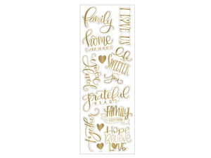 Wholesale: Momenta Gold Stickers with 12 Family Phrases