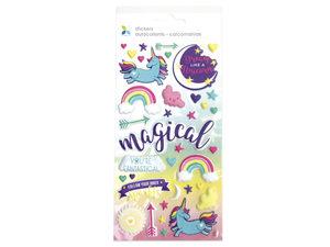 Wholesale: Momenta 37 Piece Puffy Unicorn Stickers