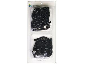 Wholesale: 26 Piece Black Script Alphabet Stickers
