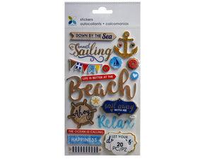 Wholesale: Momenta 20 Piece 3D Beach Stickers