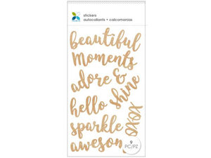 Wholesale: Momenta 9 Piece Wooden Stickers with Assorted Phrases