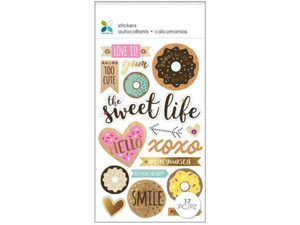 Wholesale: Momenta 18 Piece 3D Pastry Stickers