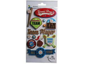 Wholesale: Momenta 15 Piece 3D Baseball Stickers