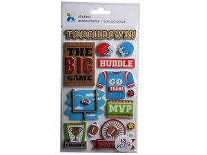 Wholesale: Momenta 13 Piece 3D Football Stickers
