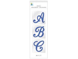 Wholesale: 40 Piece Blue Script Alphabet Stickers