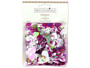 Wholesale: Love spangles confetti, 2.5 oz.