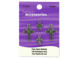 Wholesale: Cross charms, pack of 4