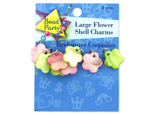 Wholesale: Large Flower Shell Charms