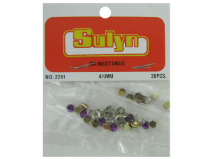Wholesale: Purple Craft Rhinestones