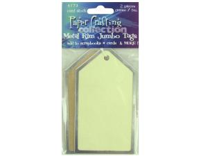 Wholesale: Jumbo Metal-Rim Paper Tags