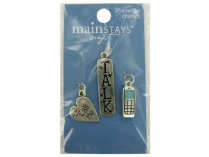 Wholesale: Cell Phone Enameled Charms