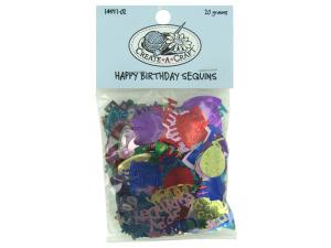 Wholesale: Birthday sequins confetti, 20 grams