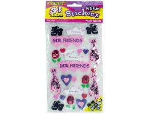 Wholesale: Girls Rule 3D Foam Stickers