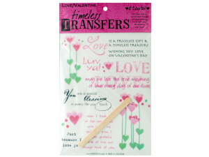 Wholesale: Love valentine words/images rub on transfer sheet