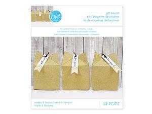 Wholesale: Momenta Gold Glitter Gift Box Kit 12pc