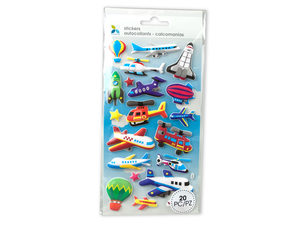 Wholesale: Momenta Extra Puff Airplane Stickers