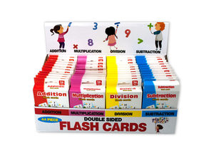 Wholesale: Jumbo Double Sided Flash Cards Countertop Display