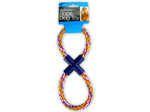 Wholesale: Figure 8 Multi-Colored Rope Dog Toy