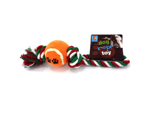 Wholesale: Dog tug rope with ball
