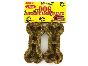 2 Pack bone-shaped dog munchies