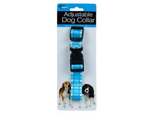 Adjustable Dog Collar with Plaid Design