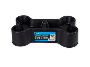 Wholesale: Bone-Shaped Double Feeder Pet Dish