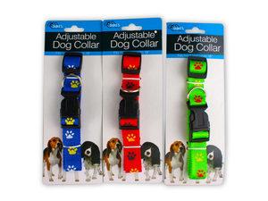 Dog Collar with Paw Print Design