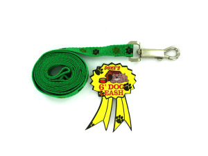 Woven Dog Leash with Paw Print