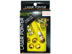 Wholesale: Laser Pointer Key Chain with Interchangeable Heads
