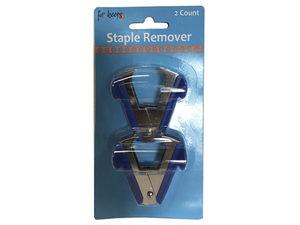 Wholesale: 2 Pack Blue Stapler Removers