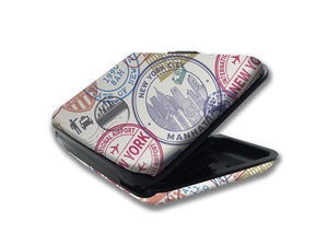 Wholesale: JET LUXE Armor RFID Security Wallet in City Stamps Print