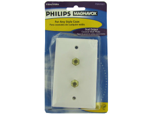 Philips magnavox dual output coaxial wall plate