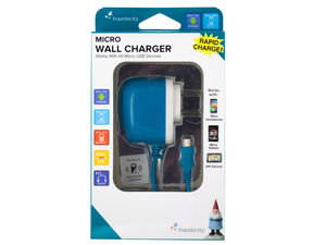 Travelocity Blue Micro USB Wall Charger