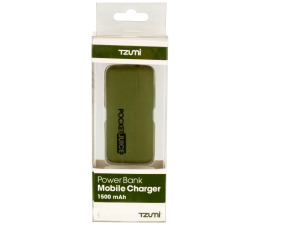 Olive Green Pocket Juice Rechargeable Power Bank