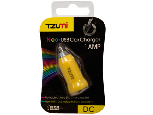 Yellow Neo-USB Car Charger