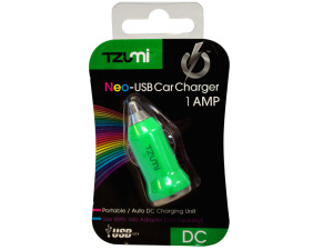Green USB Car Charger