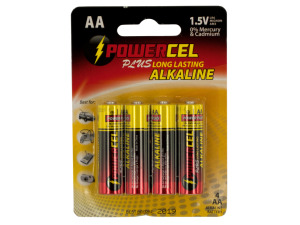 Wholesale: Powercel Plus Alkaline AA Batteries