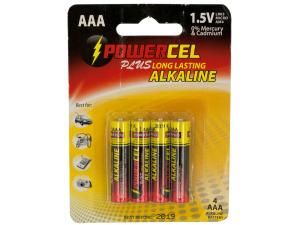 Wholesale: Powercel Plus Alkaline AAA Batteries