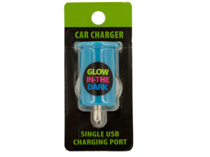 Glow in the Dark Dual USB Port Car Charger